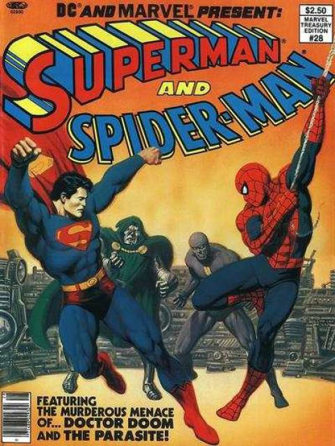 DC and Marvel present  Superman and Spider-Man