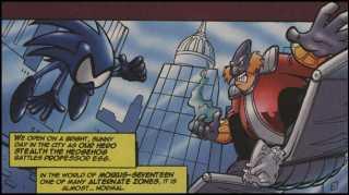 Professor Egg battles Stealth the Hedgehog