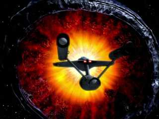 The U.S.S. Constellation soars into the gaping maw of the Doomsday Machine to fulfill its destiny.