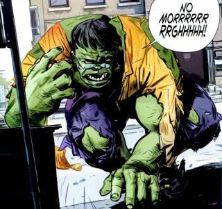 Peter as the Hulk