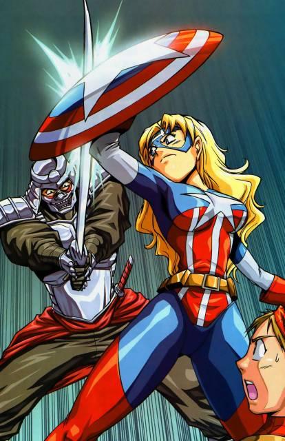 Carol as Captain America