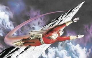 Captain Marvel at the Rock of Eternity