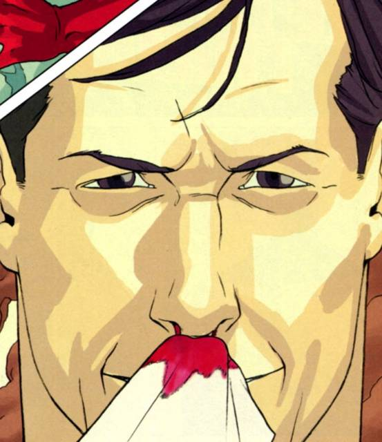 Maxwell Lord, nose bleed