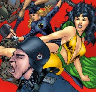 Battling Nazis alongside Lady Blackhawk and Black Canary