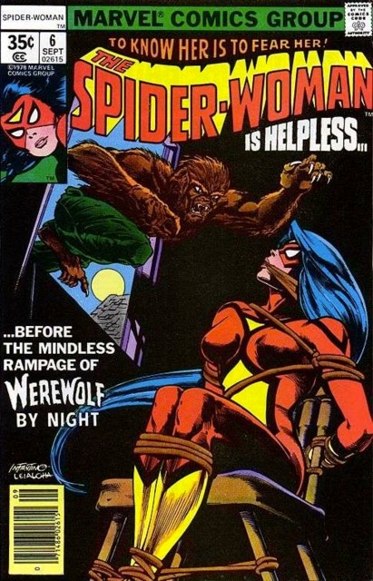 Spider-Woman #6 (1978): A more overt CCA-approved bondage cover
