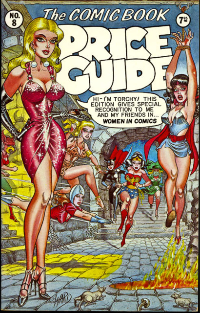 Overstreet Price Guide #8 (1978) with a homage bondage cover