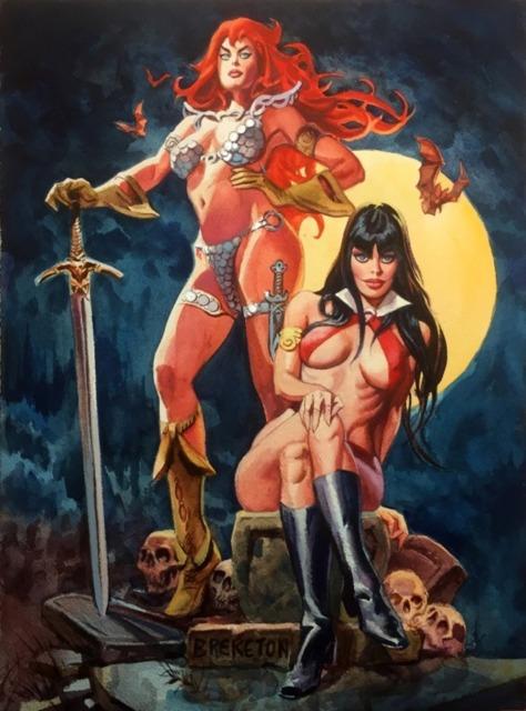 Red Sonja & Vampirella: Early Bad Girl prototypes