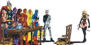 The Avengers confront Carol about alcoholism