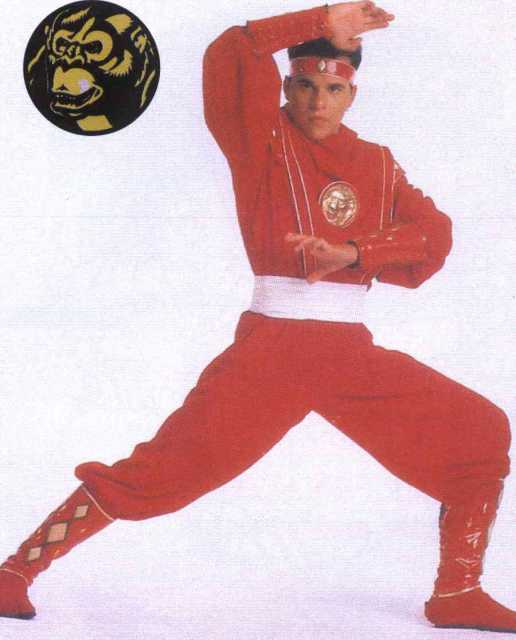 Rocky as the Red Ninja Ranger