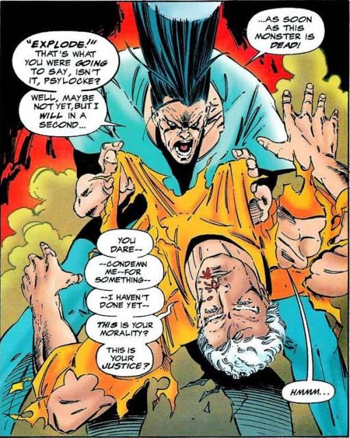 Legion fighting Magneto in Legion Quest