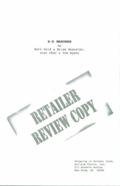X-O Manowar: Retailer Review