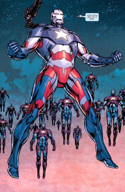 James Rhodes in the Iron Patriot suit