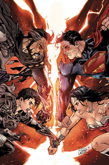 Zod and Faora Vs Superman and Wonder Woman
