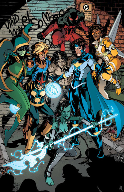 Kaine with the New Warriors