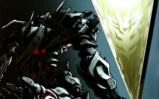 Megatron with his master, trapped in a sarcophagus
