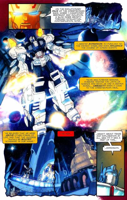 Omega Supreme tells Optimus about Nova Prime and the first Ark.