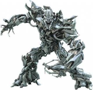 Megatron as he appears in the 2007 film, Transformers.