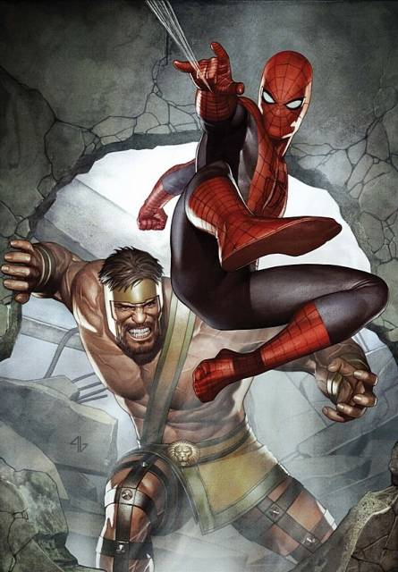 The unlikely team of Hercules & Spider-Man
