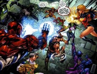 She-Hulks vs The Dark Avengers