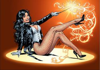 Zatanna with her wand