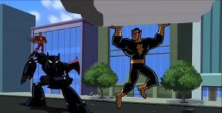 Black Adam vs Batman and Captain Marvel