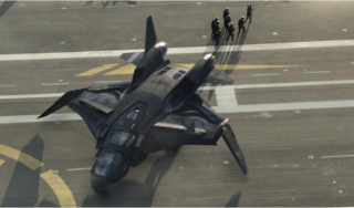 A Quinjet in The Avengers