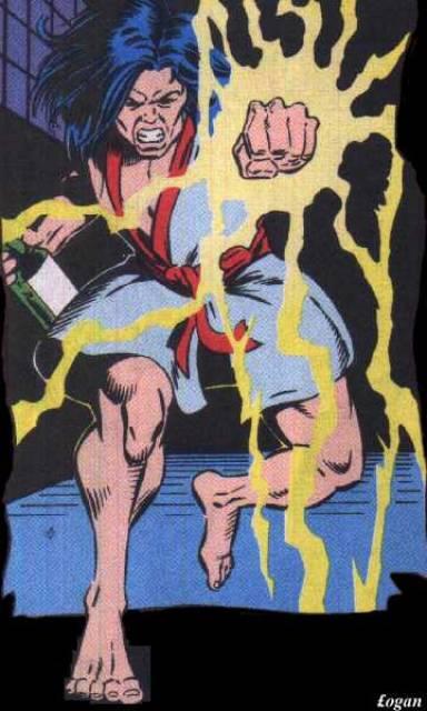 Shinobi using his powers