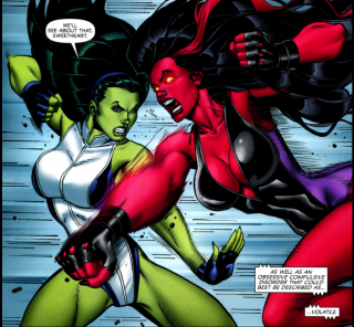 Battle Of The She-Hulks: Red Versus Green