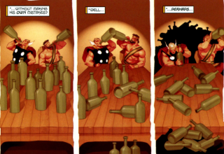 Drinking Contest: Hercules & Thor vs frost giants.