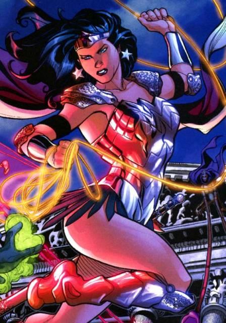Donna as Wonder Woman