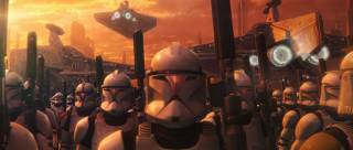 Clones being deployed off Coruscant