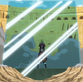 Bartolomeo creating a barrier to block an attack.