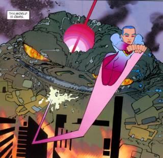 Lara fights Brainiac