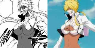 Tier Harribel manga to anime comparison