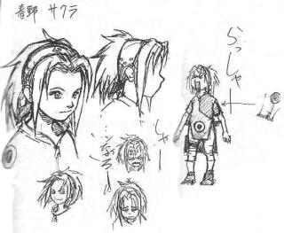 Sakura Haruno early design sketches