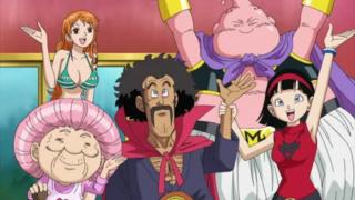 Dream 9: Setsuno, Nami, Mr. Satan, Mr. Buu, and Videl