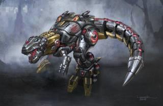 Grimlock in dinosaur mode in Fall of Cybertron