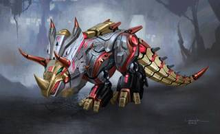 Slag in his dino mode in Fall of Cybertron