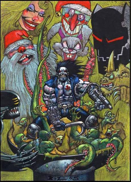 Cover art for the cancelled Lobo game