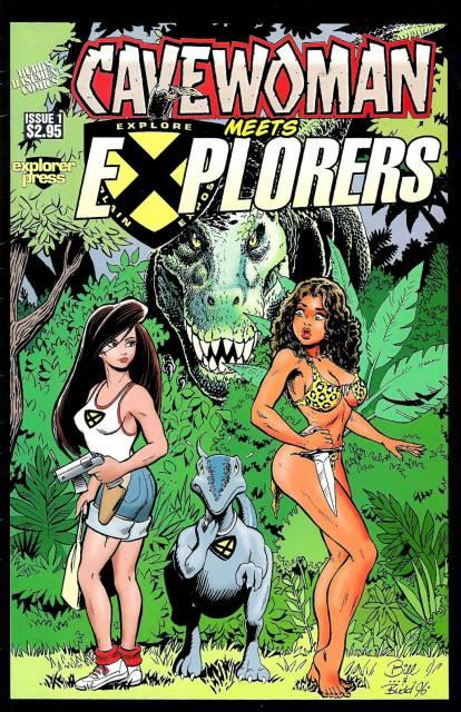 Cavewoman Meets Explorers