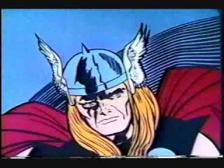 Animated version of Thor from the 1960s cartoon.