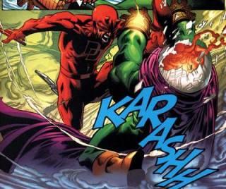 Daredevil beats Mysterio