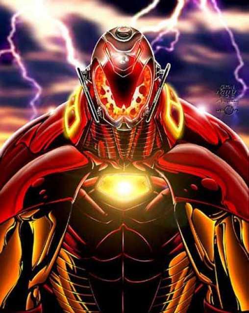 Ultron inhabits Tony's discarded sentient armor.