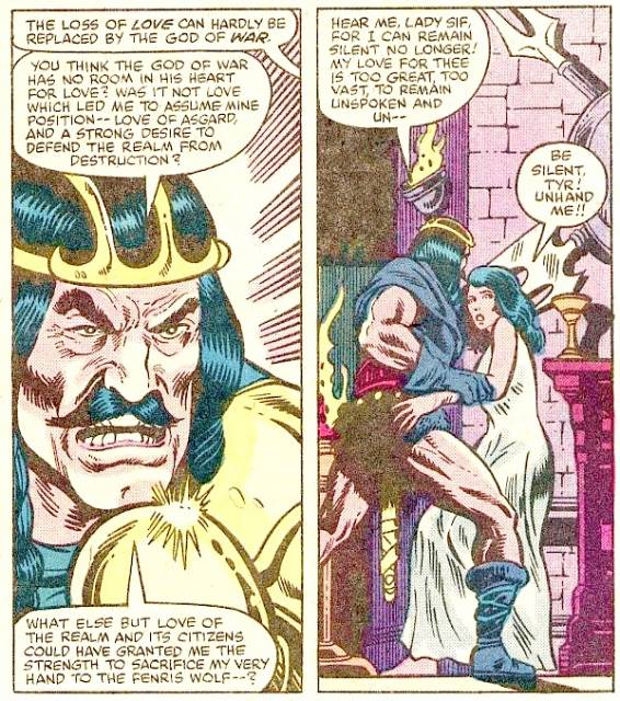 Tyr offends Lady Sif