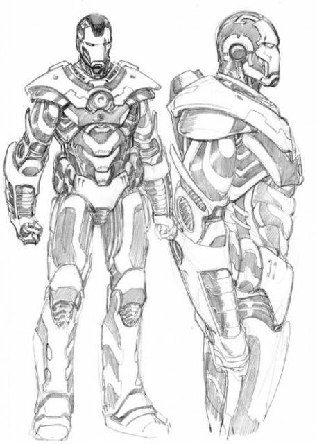 Iron Man 2.0 (Rhodey) Sketch
