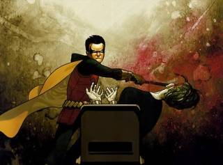 Robin hitting the Joker
