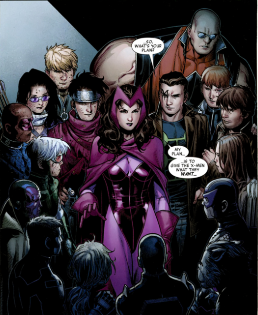 Wanda along with the Young Avengers and X-Factor.