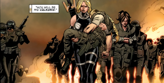 Valkyrie leads the U.S. Army during Fear Itself