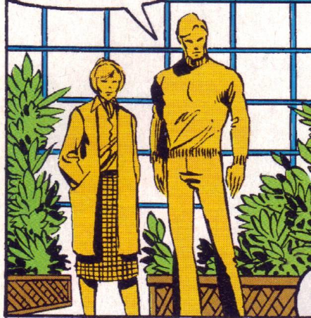 Jackie as an older woman alongside Steve Rogers