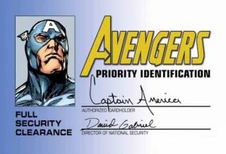 An Avengers ID Card